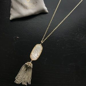 Kendra Scott Rayne necklace Mother of Pearl Drusy